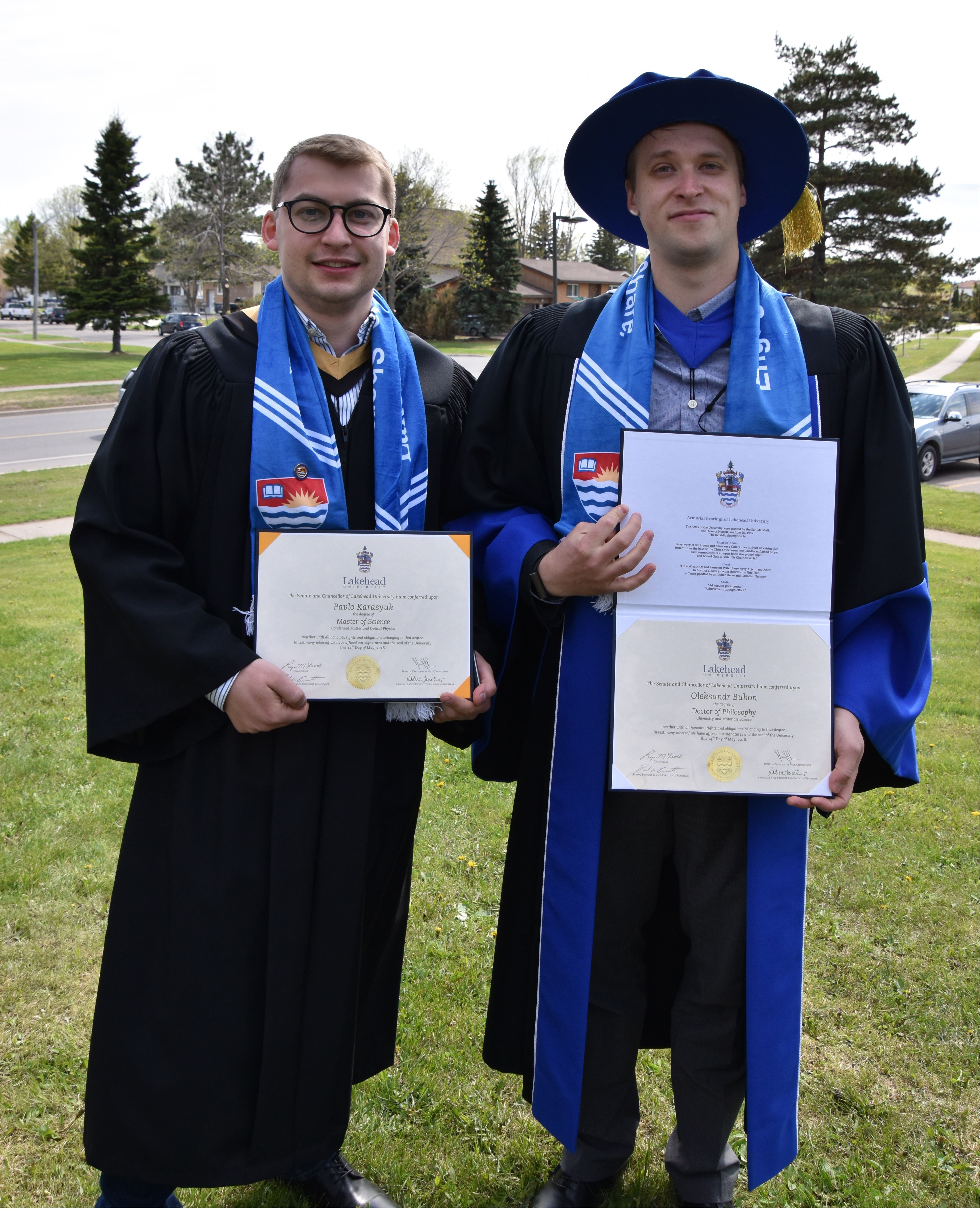 Pavlo Karasyuk (left) and Dr. Bubon (right)